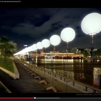 Lichtgrenze – die Berliner Mauer 25 Jahre nach ihrem Fall