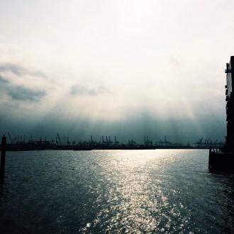 Feierabend am Hafen