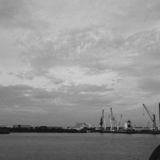 früh am Morgen in der Hafencity